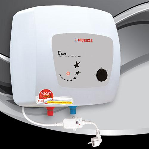 Bình nóng lạnh Picenza 15L V15ET (15 Lít) model mới đèn báo nguồn sẵn sàng