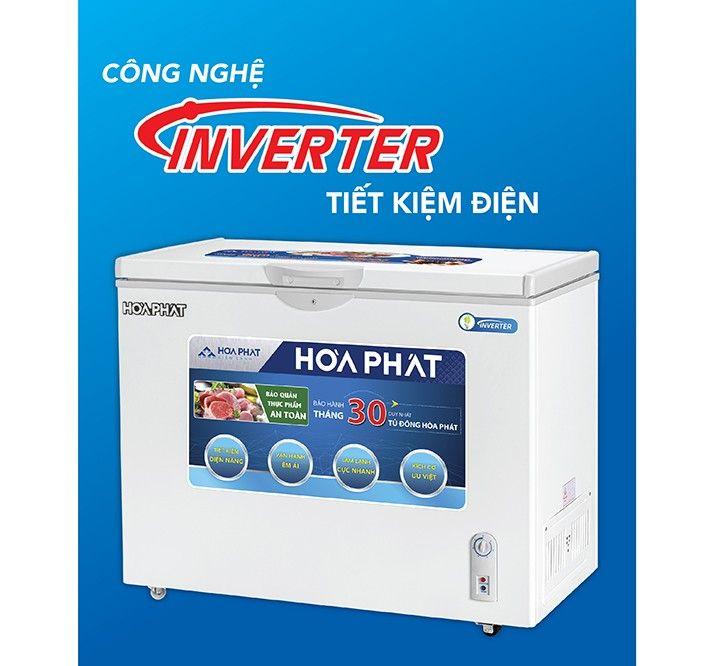 Tủ đông Hòa Phát Inverter 1 ngăn 1 cánh HCFI 516S1Đ1